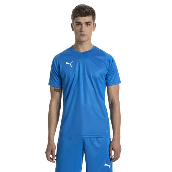 Liga Core Men's Football Jersey, Electric Blue Lemonade-White, large