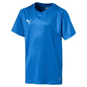Thumbnail 1 of Liga Core Junior Football Jersey, Electric Blue Lemonade-White, medium
