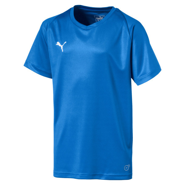 Liga Core Junior Football Jersey, Electric Blue Lemonade-White, large