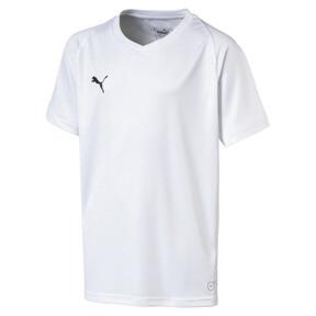 Thumbnail 1 of Liga Core Junior Football Jersey, Puma White-Puma Black, medium