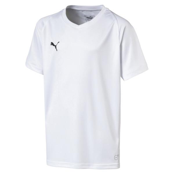 Liga Core Junior Football Jersey, Puma White-Puma Black, large