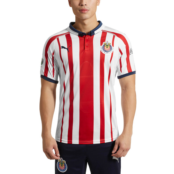 Chivas Home Authentic Men's Jersey, Puma White-P Red-P New Navy, large