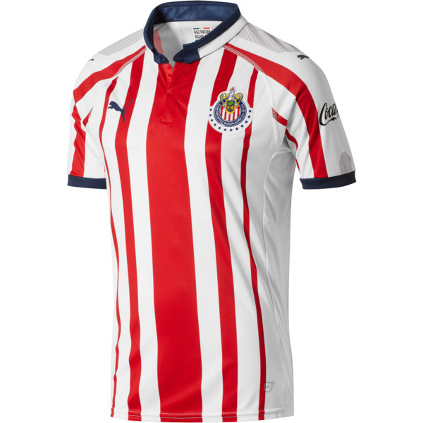 Chivas Men's Home Replica Jersey, P White-P Red-P New Navy, large