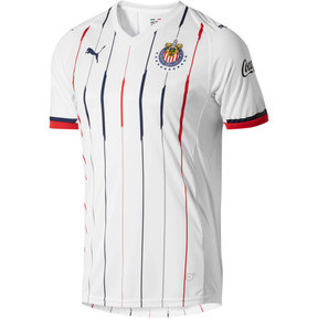 Thumbnail 1 of Chivas Away Replica Men's Jersey, White- Red-New Navy, medium