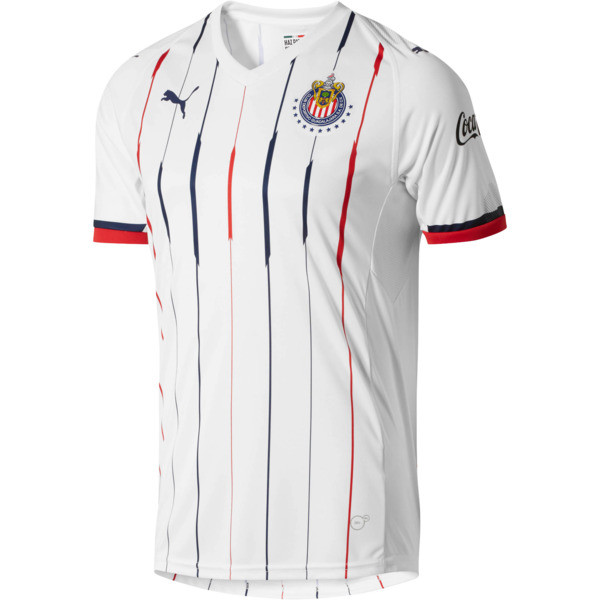 Chivas Away Replica Men's Jersey, White- Red-New Navy, large