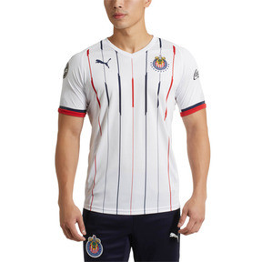 Thumbnail 2 of Chivas Away Replica Men's Jersey, White- Red-New Navy, medium