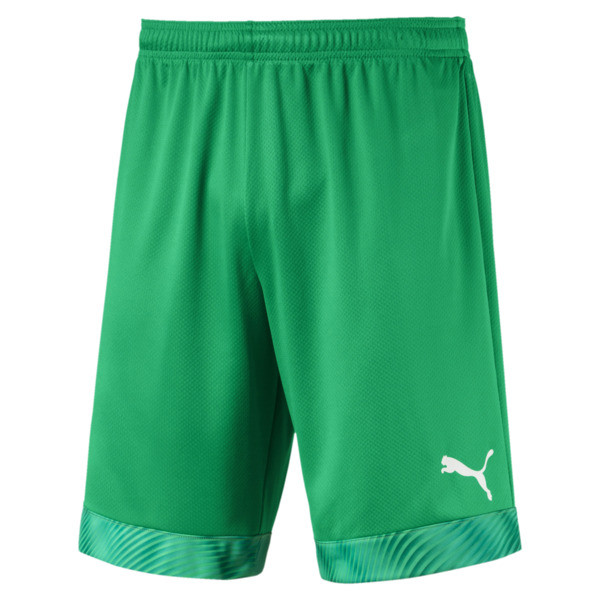 CUP Men's Football Shorts, Bright Green-Prism Violet, large