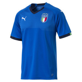 Thumbnail 4 of Italia Home Replica Jersey, Team Power Blue-Peacoat, medium
