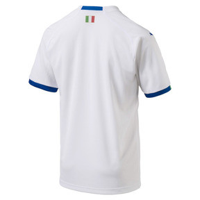 Thumbnail 5 of FIGC Away Men's Short Sleeve Replica Shirt, Puma White-Team Power Blue, medium