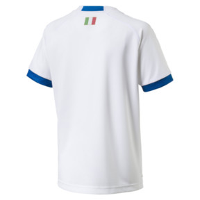 Thumbnail 2 of FIGC Italia Kids Away Shirt, Puma White-Team Power Blue, medium