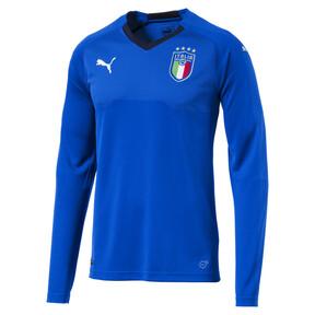 Thumbnail 2 of Italia Long Sleeve Home Replica Jersey, Team Power Blue-Peacoat, medium
