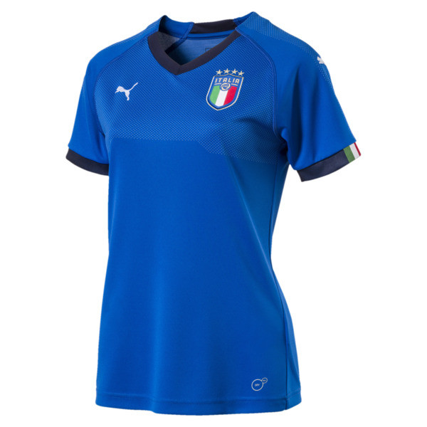 Italia Home Women's Replica Jersey, Team Power Blue-Peacoat, large