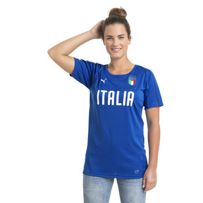 Thumbnail 2 of Italia Women's Training Jersey, Team Power Blue-Puma WHite, medium