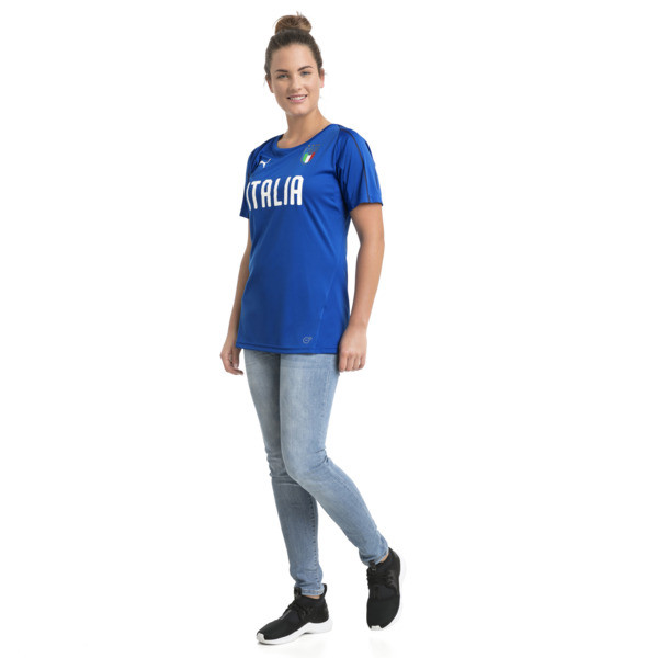 Camiseta de training de mujer Italia, Team Power Blue-Puma WHite, grande