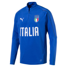 Thumbnail 1 of Italia 1/4 Zip Training Top, Team Power Blue-White, medium