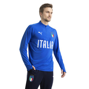 Thumbnail 2 of Italia 1/4 Zip Training Top, Team Power Blue-White, medium