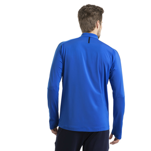 Italia 1/4 Zip Training Top, Team Power Blue-White, large