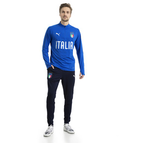 Thumbnail 5 of Italia 1/4 Zip Training Top, Team Power Blue-White, medium