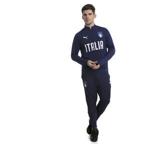 Thumbnail 5 of Italia 1/4 Zip Training Top, Peacoat-Team Power Blue, medium