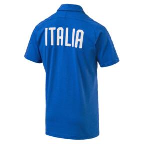 Thumbnail 4 of FIGC Casual Polo SS, Team Power Blue Heather, medium