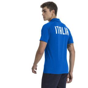 Thumbnail 3 of FIGC Casual Polo SS, Team Power Blue Heather, medium