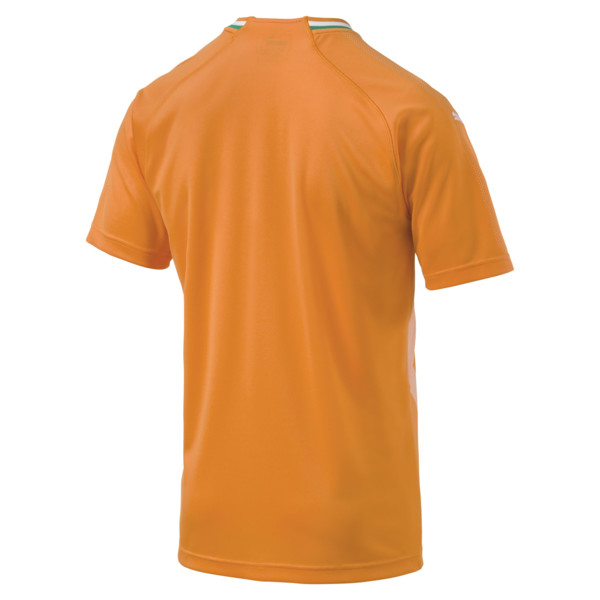 Ivory Coast Home Replica Jersey, Flame Orange-Pepper Green, large