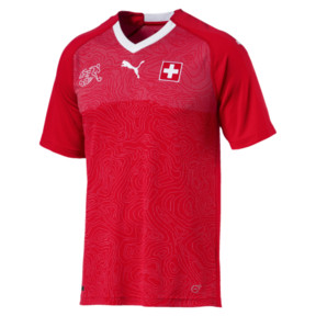 Thumbnail 4 of Switzerland Home Replica Jersey, Puma Red-Puma White, medium