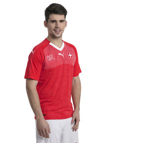 Thumbnail 1 of Switzerland Home Replica Jersey, Puma Red-Puma White, medium