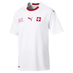 Thumbnail 5 of Switzerland Men's Away Replica Jersey, Puma White-Puma Red, medium
