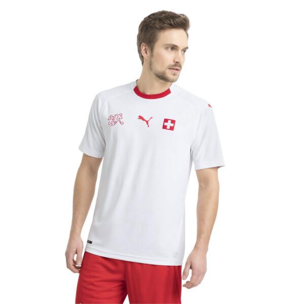 Maillot extérieur Suisse Replica pour homme, Puma White-Puma Red, large