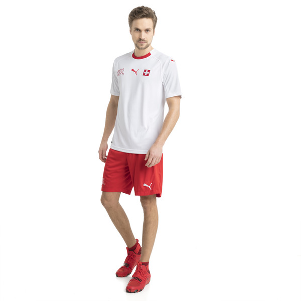 Switzerland Men's Away Replica Jersey, Puma White-Puma Red, large