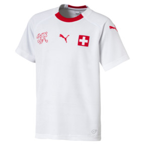Thumbnail 1 of SUISSE Kids' Away Replica, Puma White-Puma Red, medium