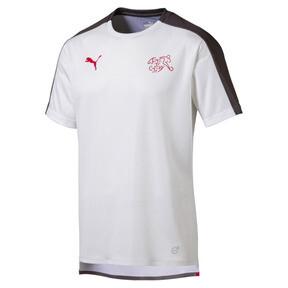 Thumbnail 1 of SUISSE Men's Stadium Jersey, Puma White-Asphalt, medium