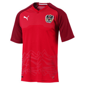 Thumbnail 1 of Austria Home Replica Jersey, Puma Red-Chili Pepper, medium