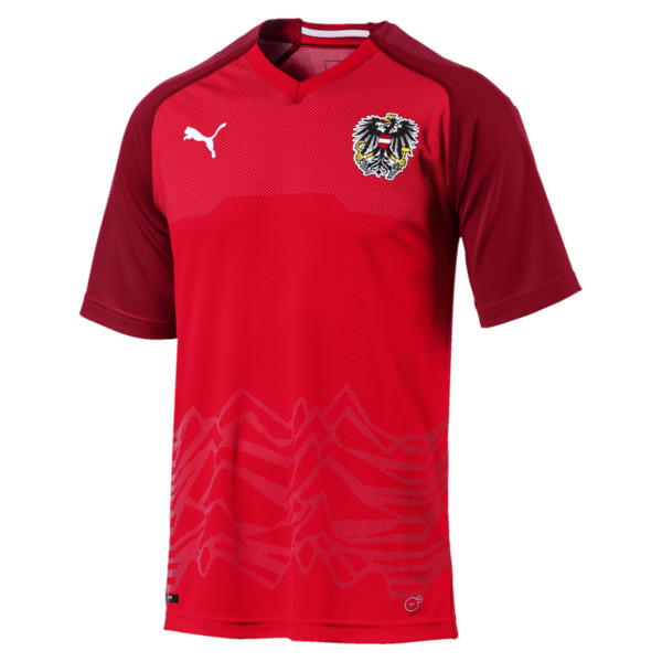 Austria Home Replica Jersey, Puma Red-Chili Pepper, large