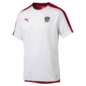 Thumbnail 1 of Austria Men's Stadium Jersey, Puma White-Red Dahlia, medium