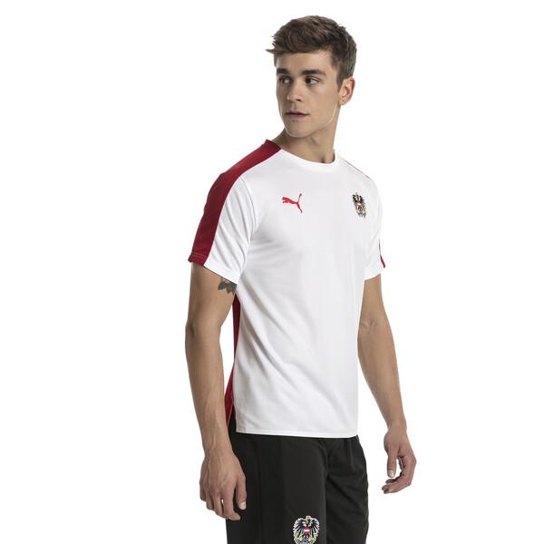 Austria Men's Stadium Jersey, Puma White-Red Dahlia, large