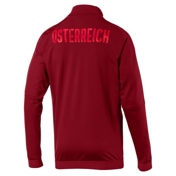 Austria Men's Stadium Jacket, Red Dahlia, large