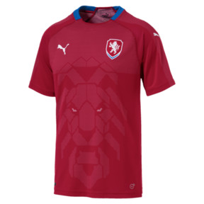 Thumbnail 4 of Czech Republic Home Replica Jersey, Chili Pepper-Puma Royal, medium