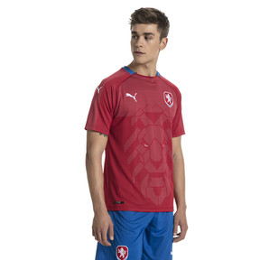 Thumbnail 1 of Czech Republic Home Replica Jersey, Chili Pepper-Puma Royal, medium
