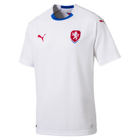 Thumbnail 5 of Czech Republic Men's Away Replica Jersey, Puma White-Puma Royal, medium