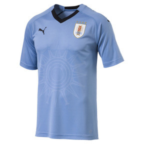 Thumbnail 4 of Uruguay Home Replica Jersey, Silver Lake Blue-Puma Black, medium