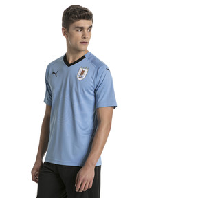 Thumbnail 1 of Uruguay Replica Heimtrikot, Silver Lake Blue-Puma Black, medium