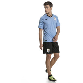 Thumbnail 3 of Uruguay Home Replica Jersey, Silver Lake Blue-Puma Black, medium