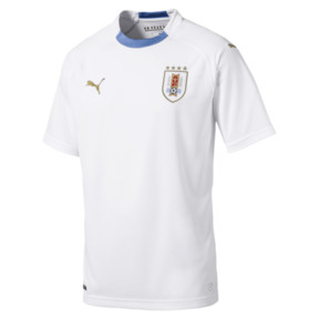 Thumbnail 5 of Uruguay Men's Away Replica Jersey, Puma White-Silver Lake Blue, medium