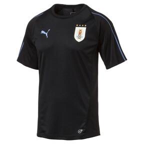 Imagen en miniatura 1 de Camiseta deportiva de training de hombre de Uruguay, Puma Black-Silver Lake Blue, mediana