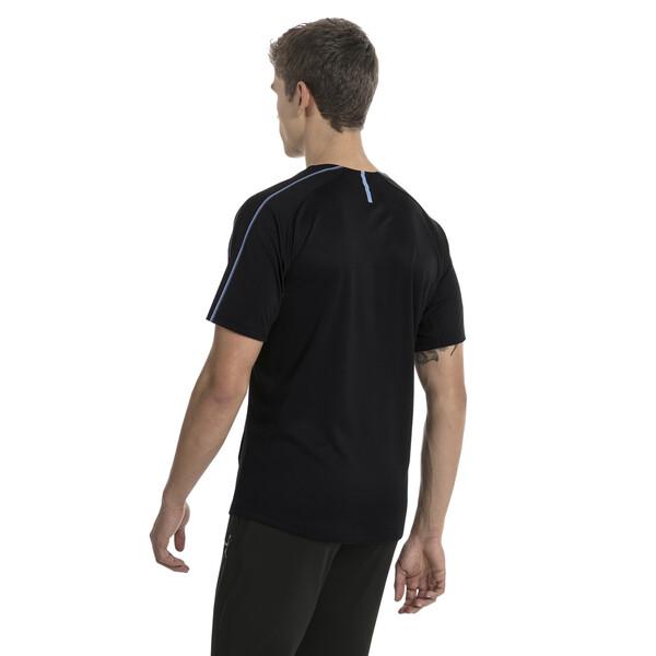 Camiseta deportiva de training de hombre de Uruguay, Puma Black-Silver Lake Blue, grande