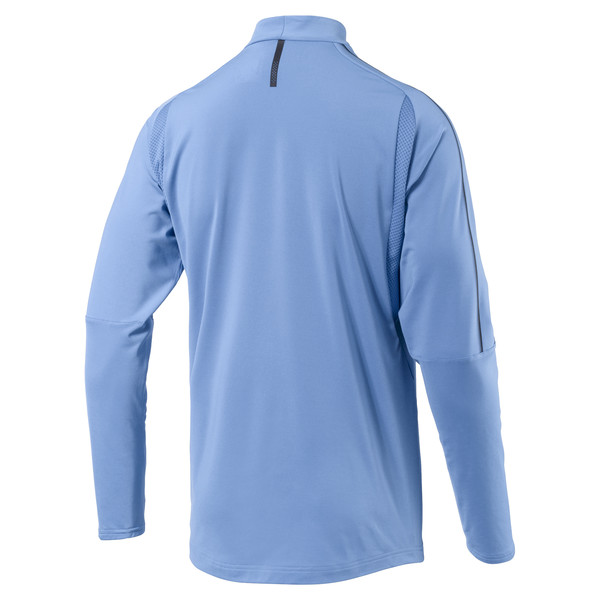 Uruguay Men's 1/4 Zip Training Top, Silver Lake Blue, large