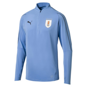 Thumbnail 1 of Uruguay Men's 1/4 Zip Training Top, Silver Lake Blue, medium