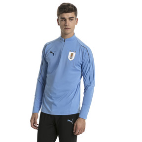 Thumbnail 2 of Uruguay Men's 1/4 Zip Training Top, Silver Lake Blue, medium